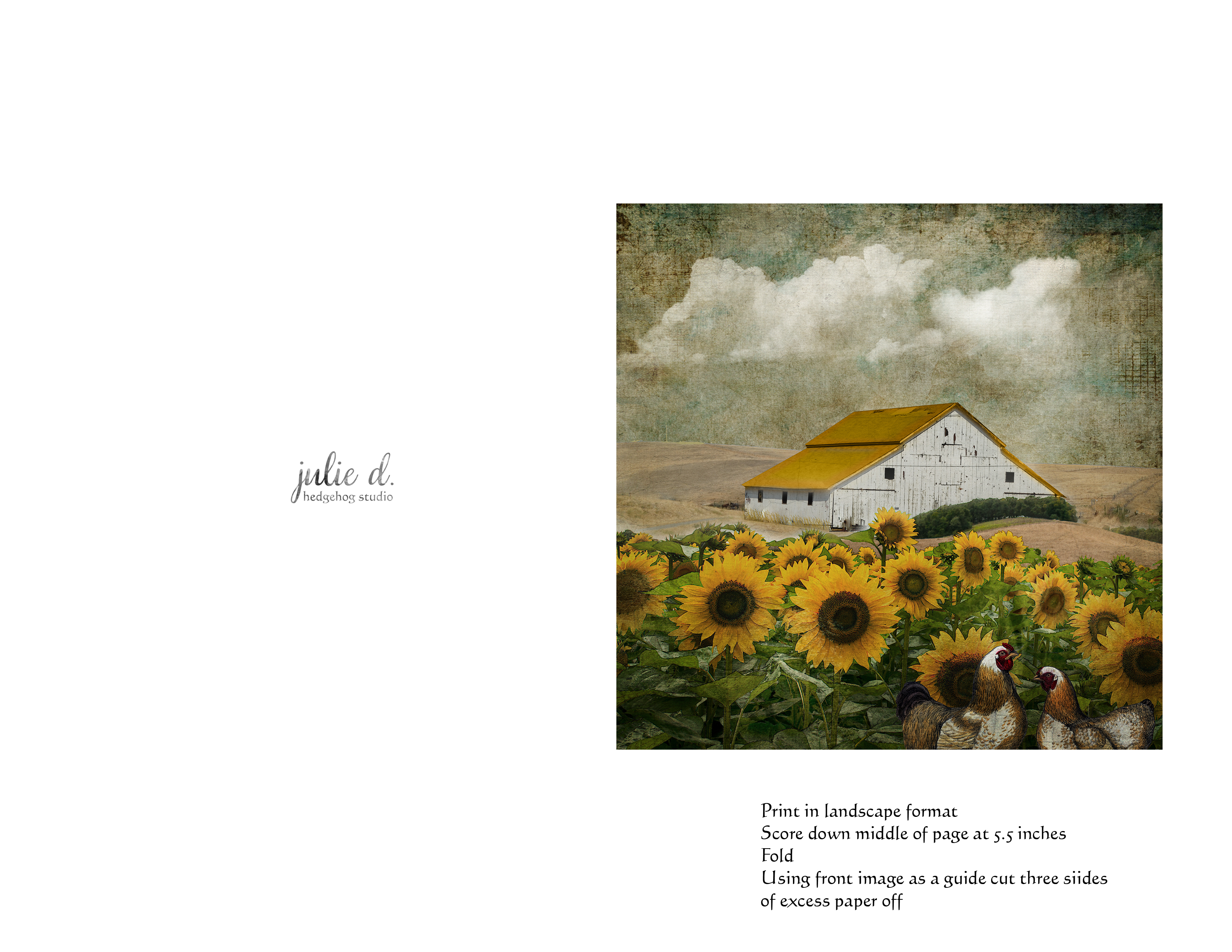 Free Card Download – The Yellow Roof – Great For Any