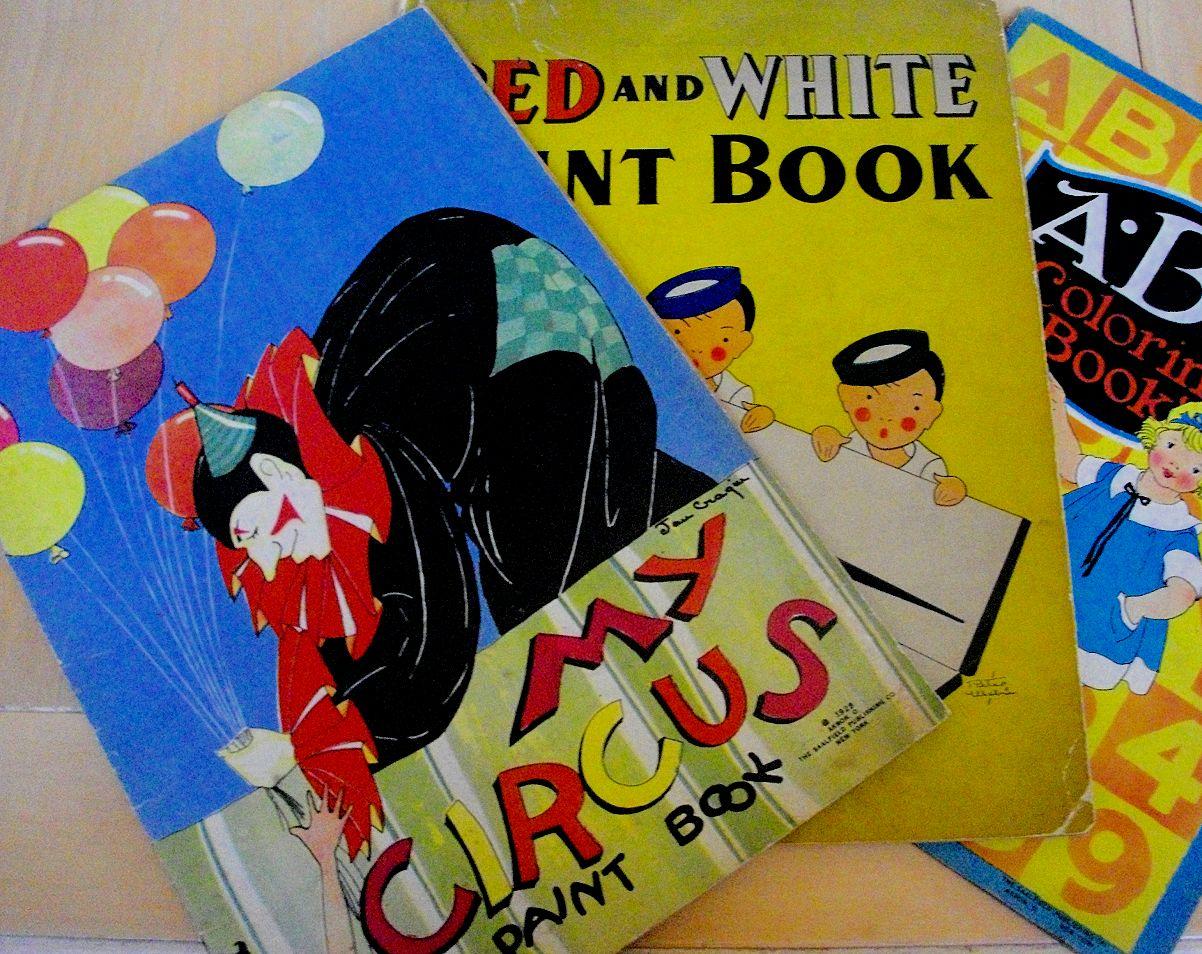 Vintage coloring books