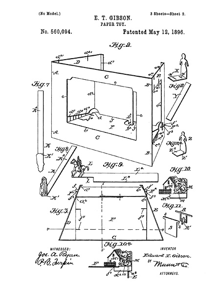 American Toy Theater Patent