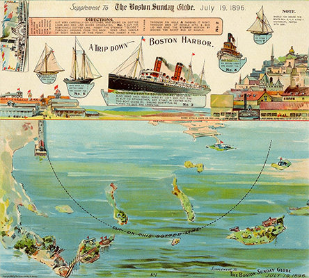 Boston Harbor Paper Toy 1896