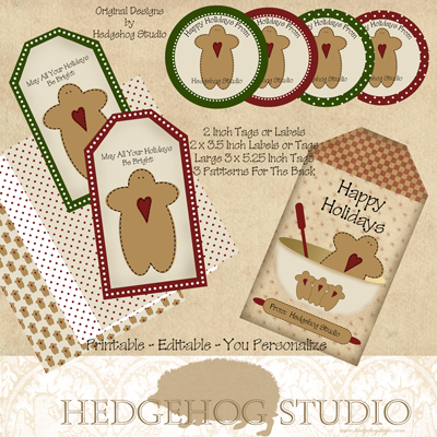 Digital Designers' Facebook Hop -  Hedgehog Studio