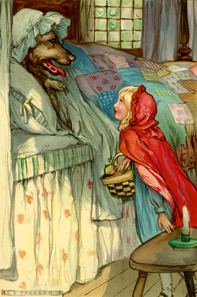 Little Red Riding Hood illustrated by A.E Jackson