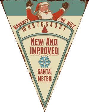 Santa Meter Printable Paper Toy