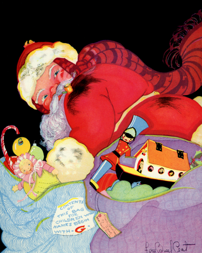Santa Illustrated by Fern Bissel Peat
