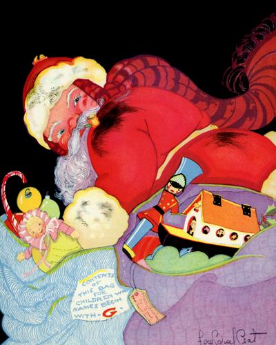 Santa Illustrated by Fern Bissel Peat