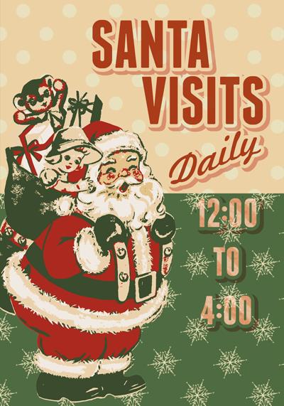 Santa Visits Tags