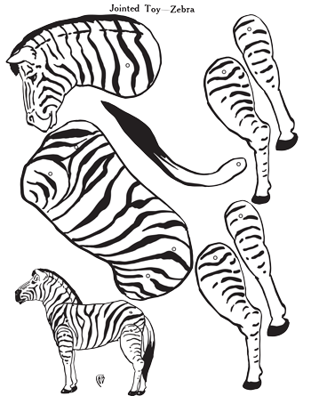 Zebra Jointed Paper Toy