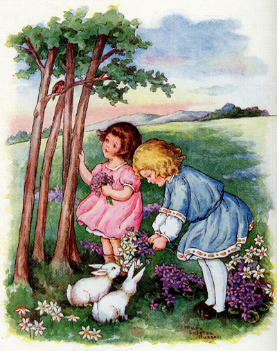 April from Buds and Blossoms illustrated by Mary LaFeta Russell