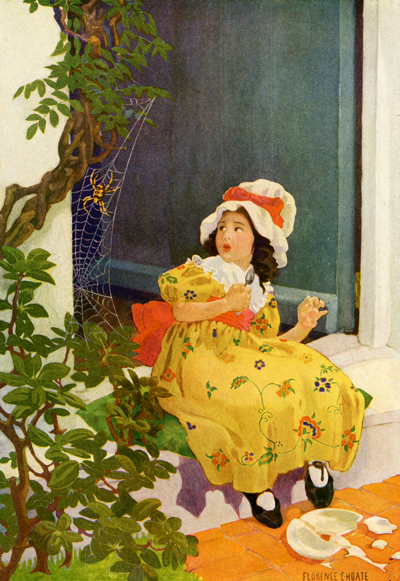 Little Miss Muffet illustrated by Florence Choate