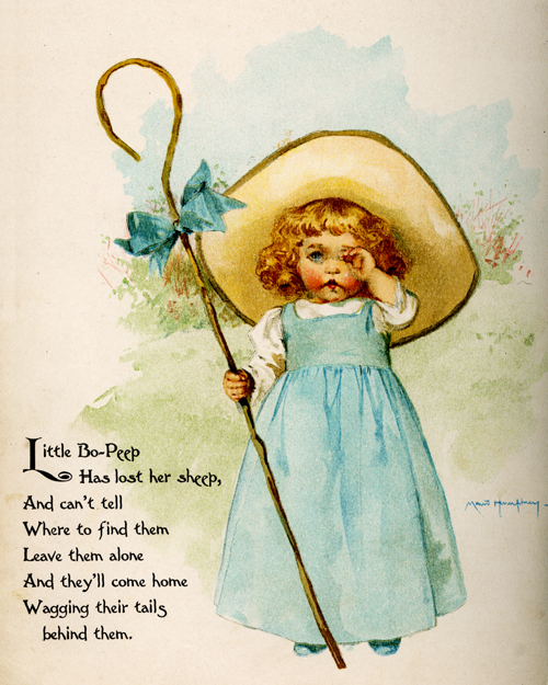 Little Bo-Peep illustrated by Maud Humphrey